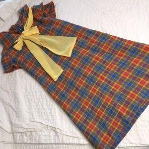 VTG 1960s homemade schoolgirl multicolor dress